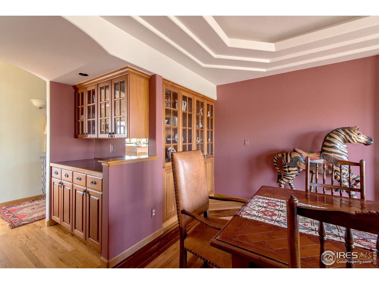 Tons of built ins+wet bar area