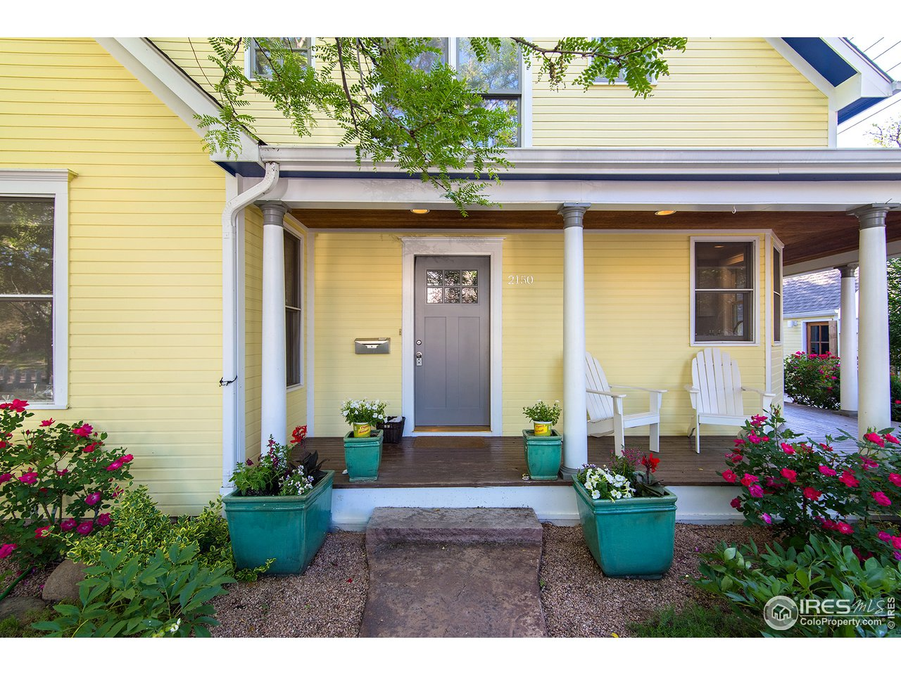Welcoming covered front entry