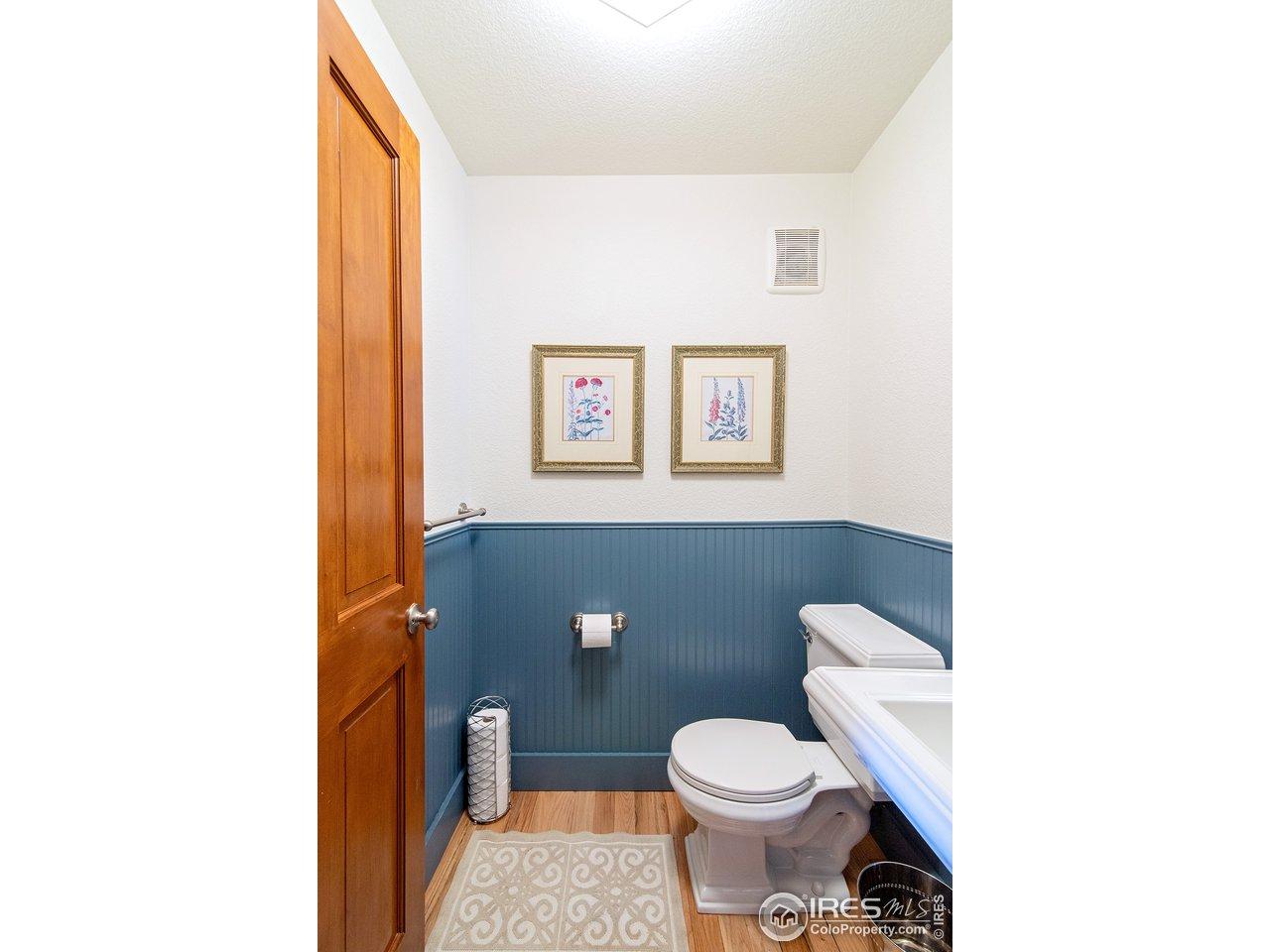 main floor powder bathroom