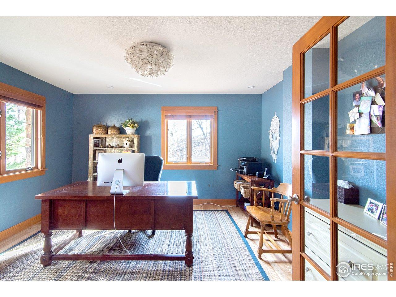 main floor study w/french doors