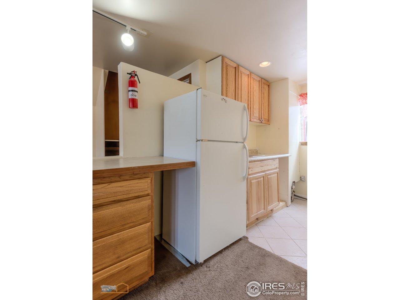 Lower level kitchenette