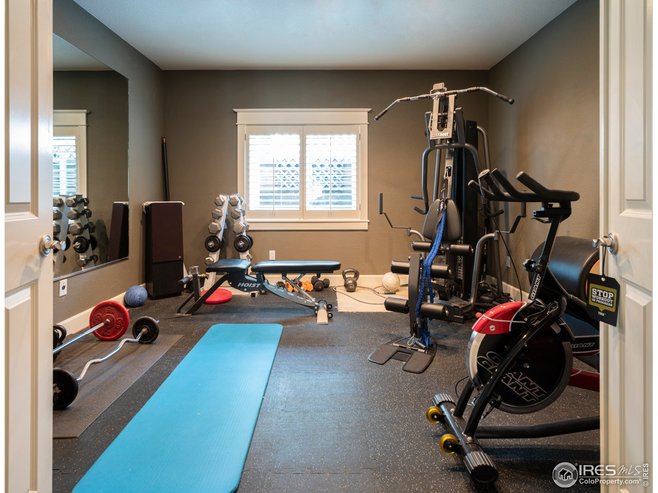 5th bedroom currently used as a work out room