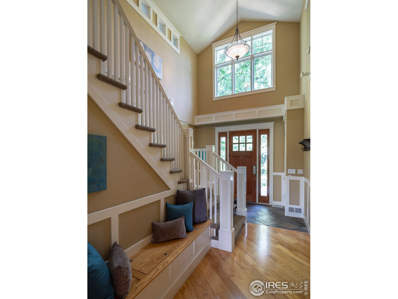 Welcoming entry flooded with natural light