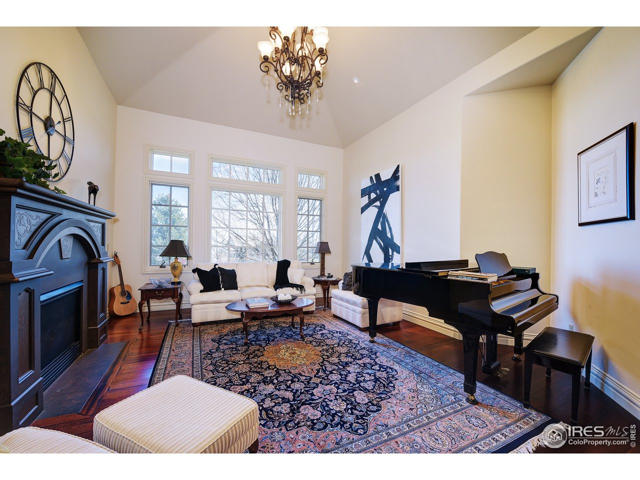 Music Room with Fireplace