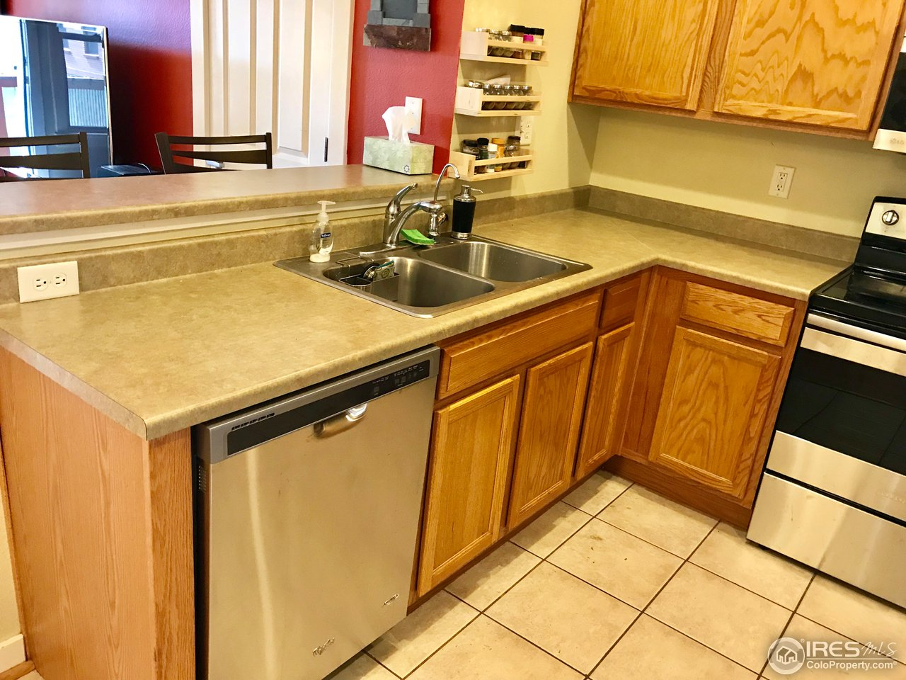 Tile floors in kitchen