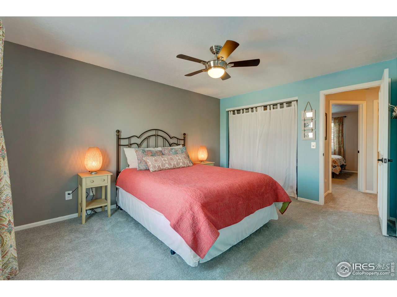Master Bedroom - All bedrooms have ceiling fans