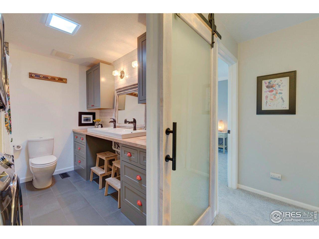 Custom Barn Door to Upper Bath