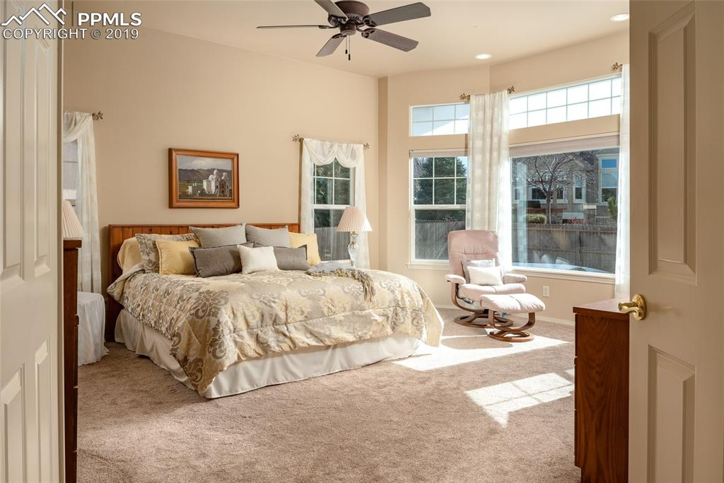Spacious master on main level, double door entry