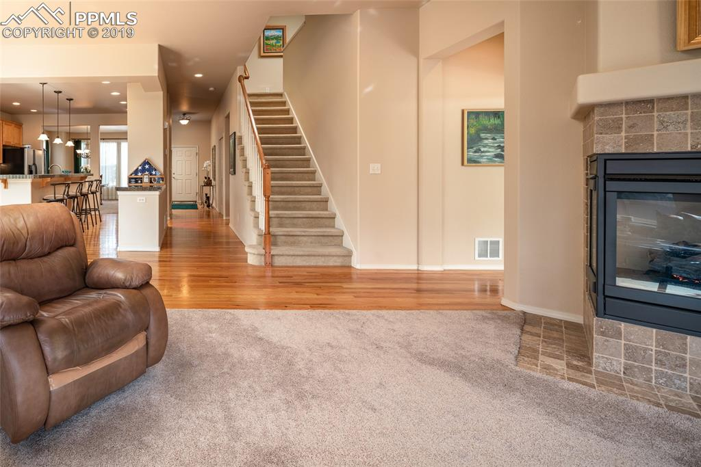 Open concept main floor.  Carpet replaced on main floor in 2017