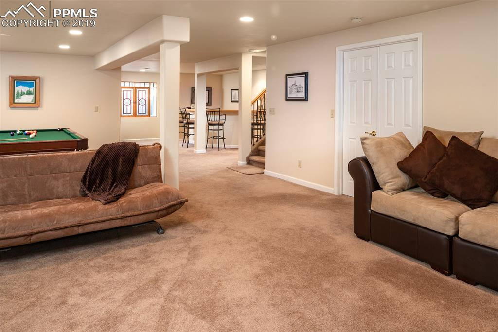Fully finished basement with wet bar and lots of room to entertain!  Double door