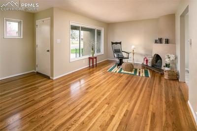 Large living room beautiful  hardwood floors and updated paint