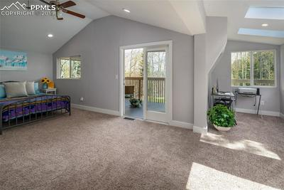 Huge master bedroom with additional area that could be easily used for an office or as a great sitting or reading area to relax and enjoy the views!