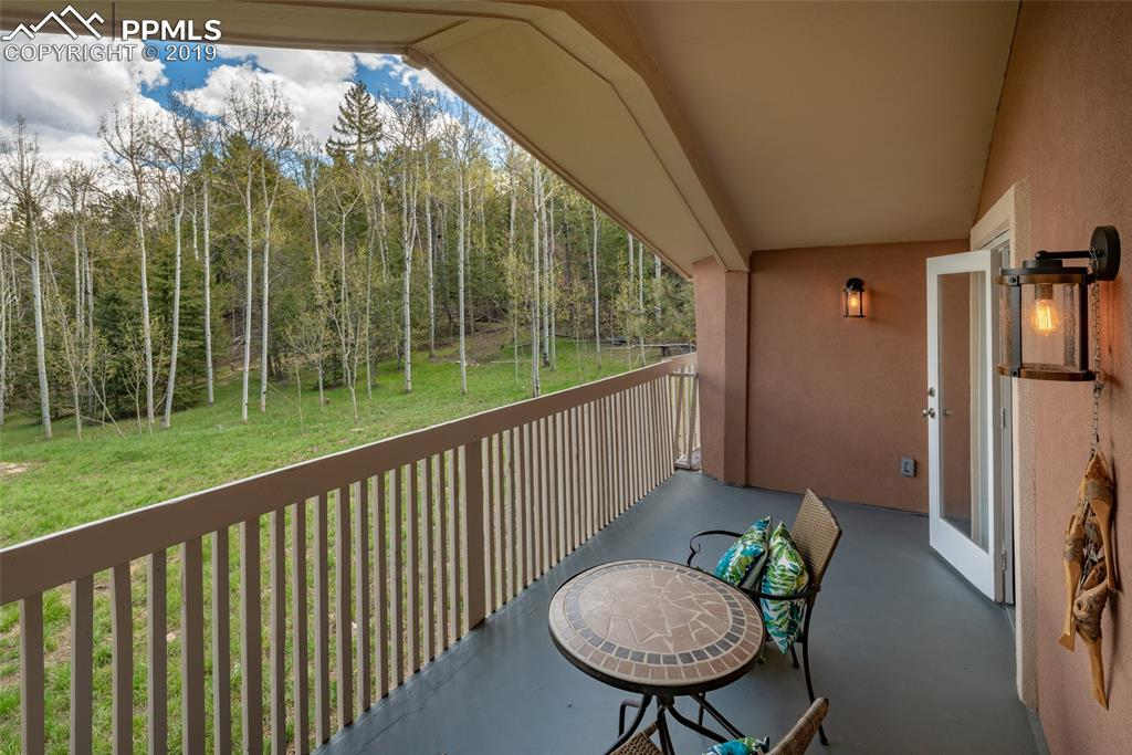 Spacious deck with walkout from master bedroom