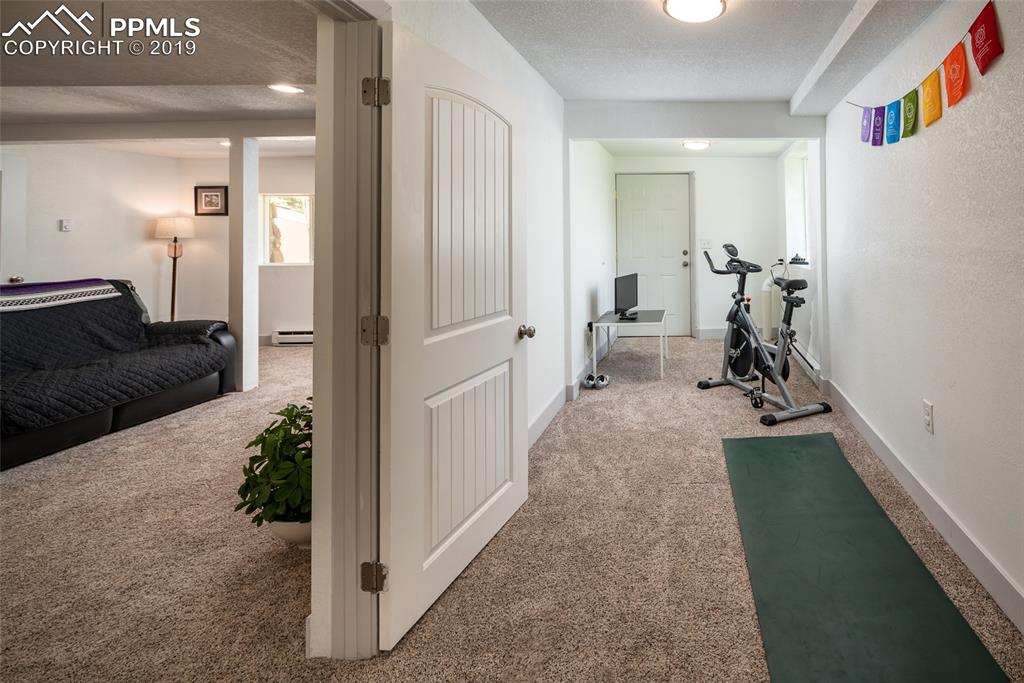 Bonus room just off basement living room currently being used as an exercise room.  Would also make a great home office, play room or craft room.  Has its own entrance.