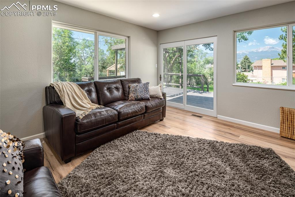 Living room with lots of natural light!