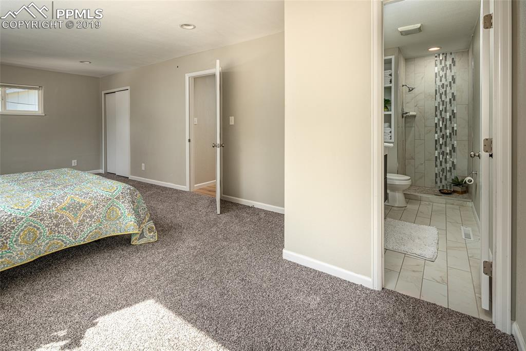 Spacious master bedroom with adjoining master bath