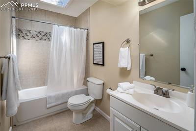 Spacious full bathroom.