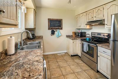 Plenty of counter and cabinet space.