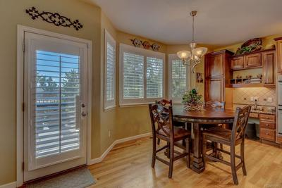 dining nook with built in desk area