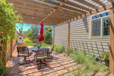 side of house patio/pergola area
