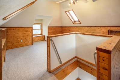 Very charming finished attic space.