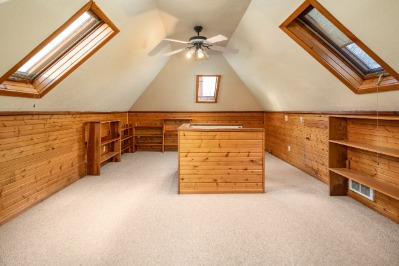 Another view of the light and bright attic.