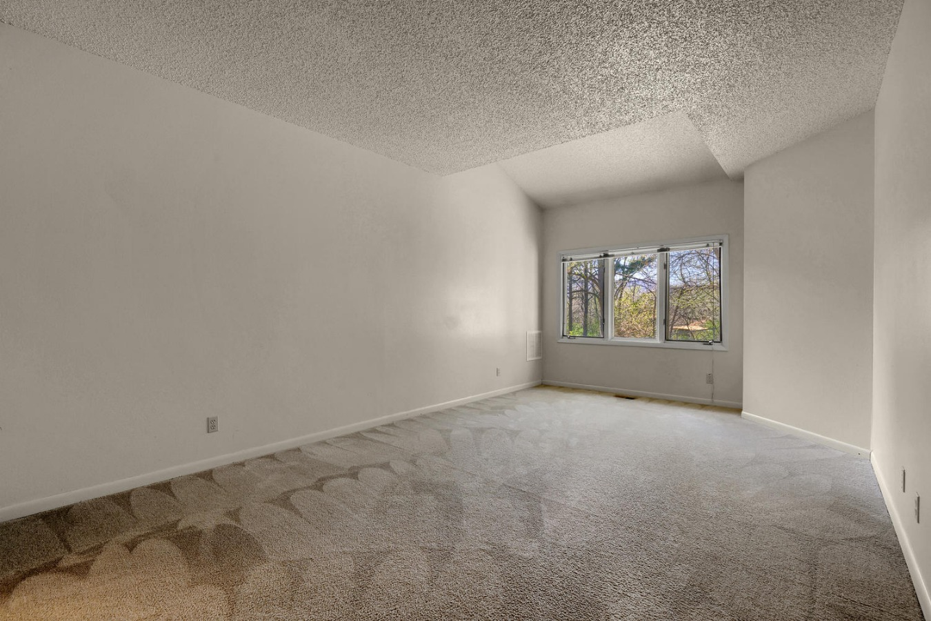 Spacious master with walk in closet