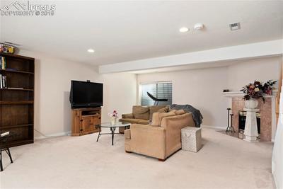 Basement family room view 2.