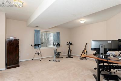 Basement bedroom #4.  Currently used as an office.