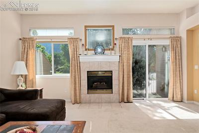 Gas fireplace will keep you cozy this winter.
