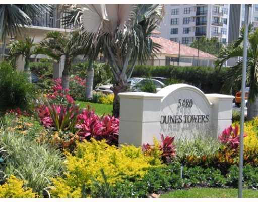 DUNES TOWERS ENTRY SIGN