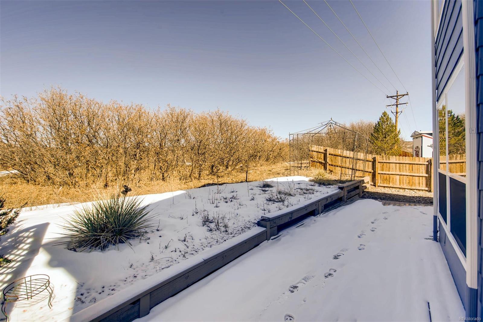 Deck and Upper Backyard