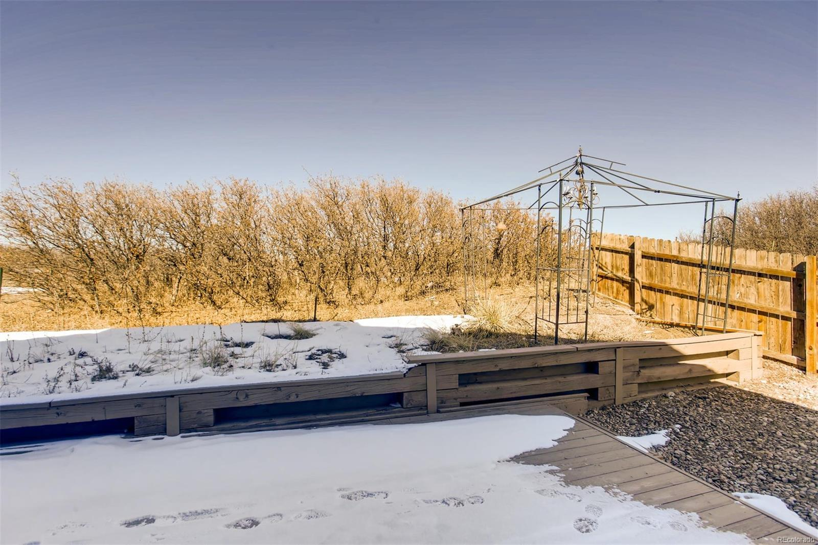 Deck, Upper Backyard, and open area behind property