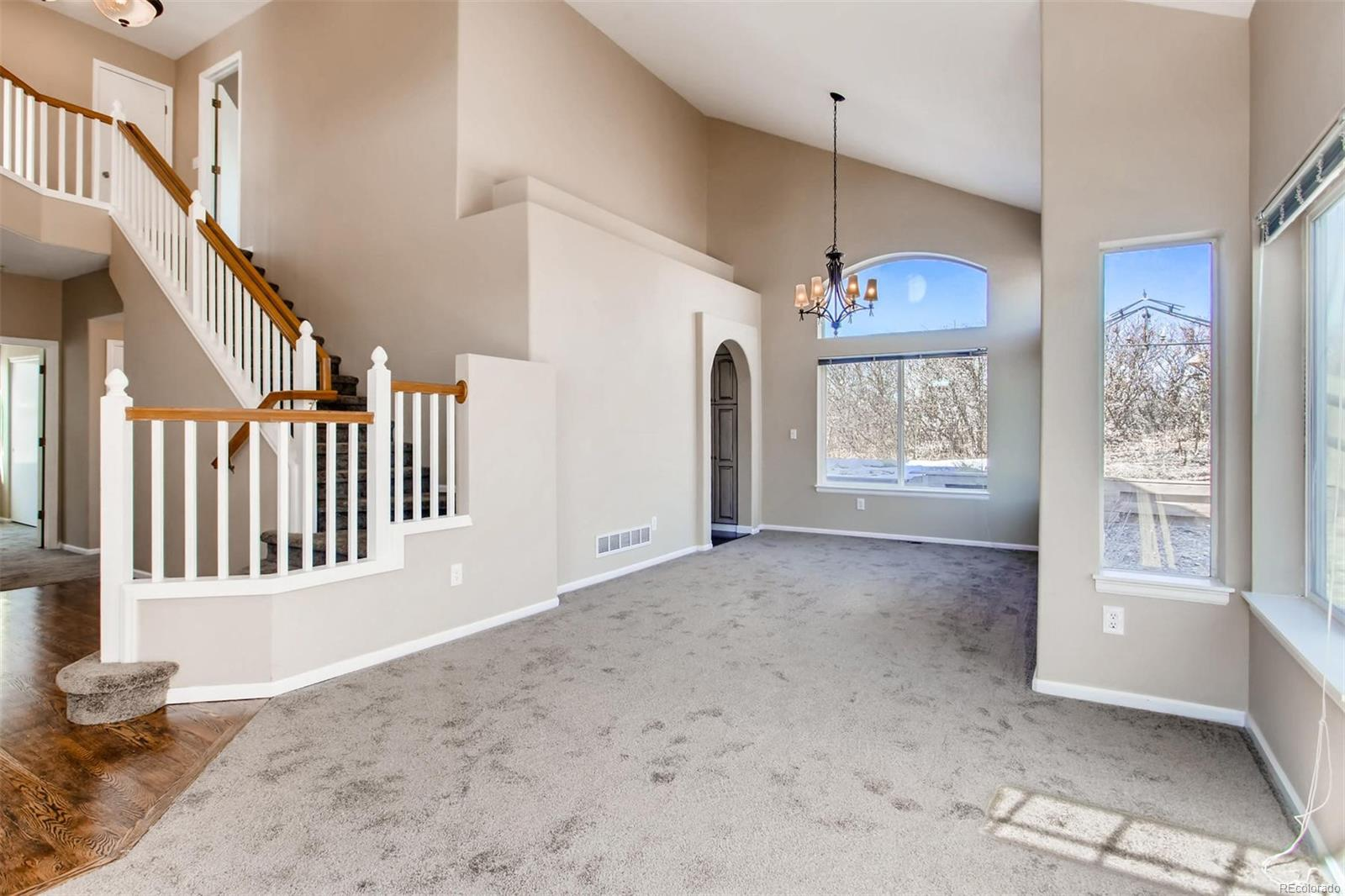 Entry Staircase and Dining Room from Living Room