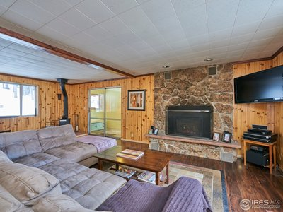 Cozy space with natural gas fireplace