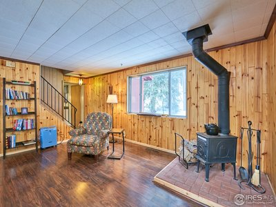 Stoke the wood fireplace