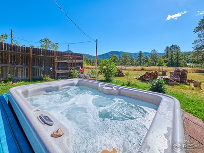 Relax and soak in the hot tub