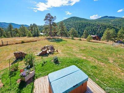 Mountain views surround the property