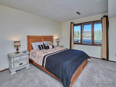 Lower level bedroom #3 w/ water views