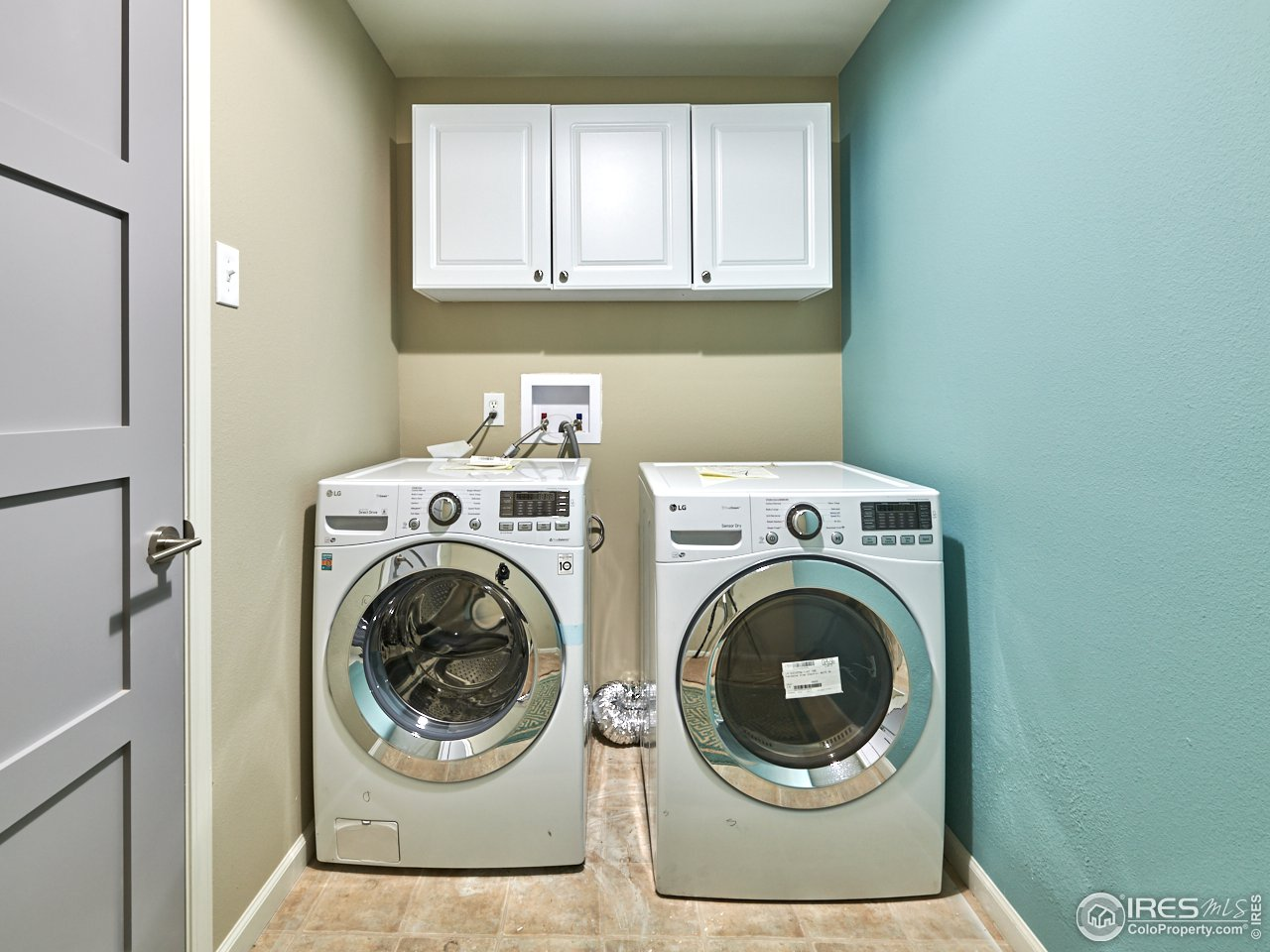 Lower level laundry area
