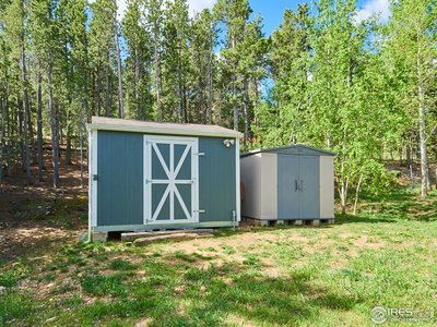 Pine beetle updated shed with electricity