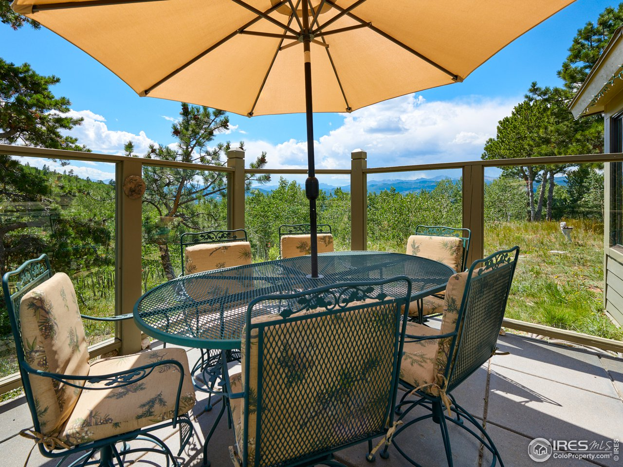 Protected patio space