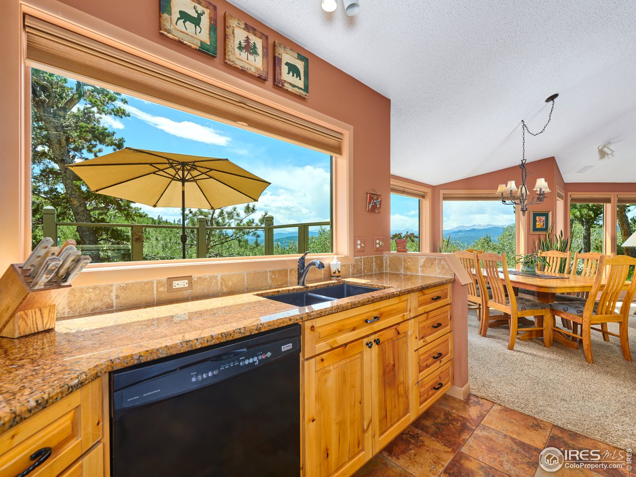 Kitchen area w/ views