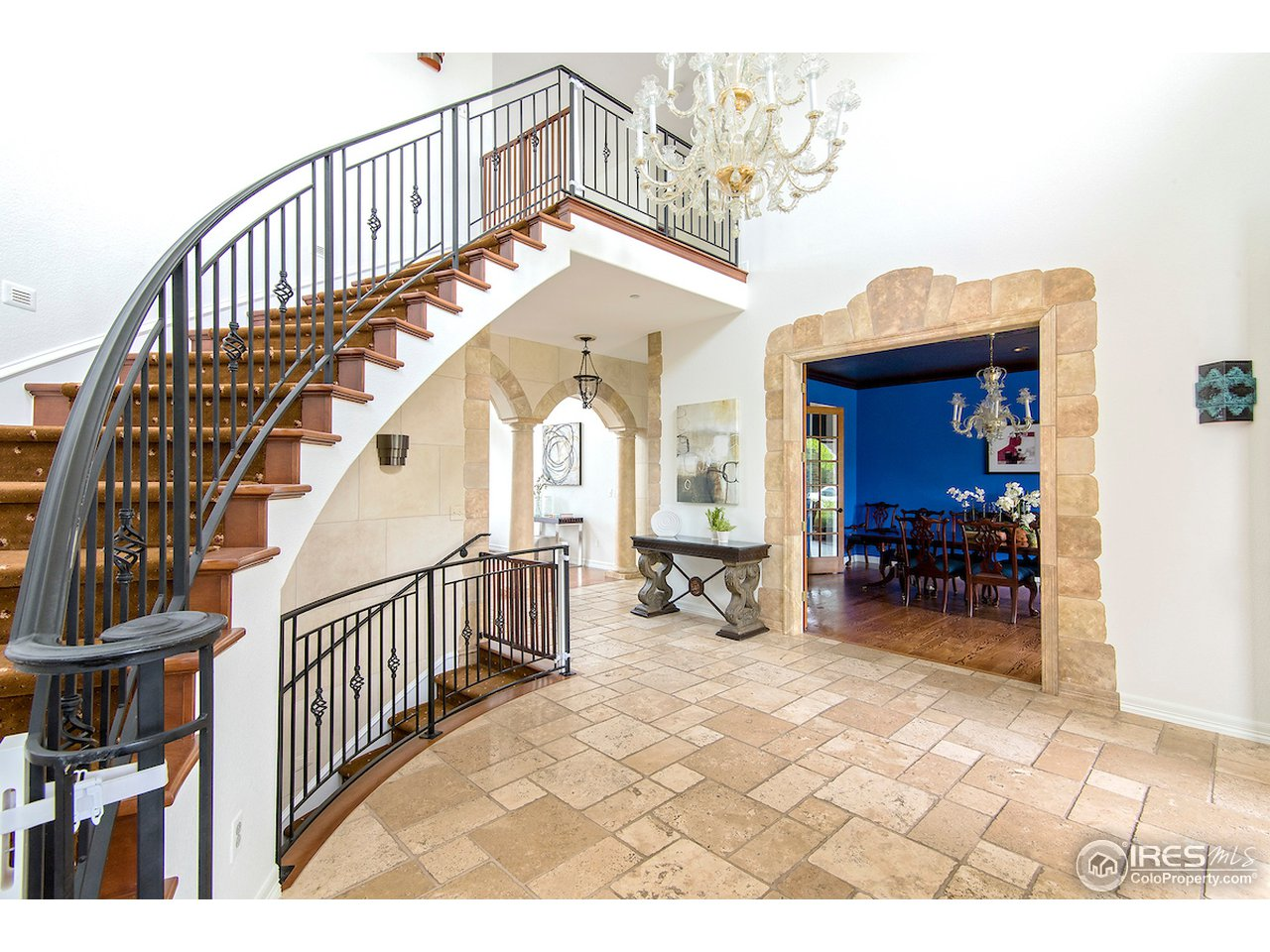 Classic, elegant staircase.