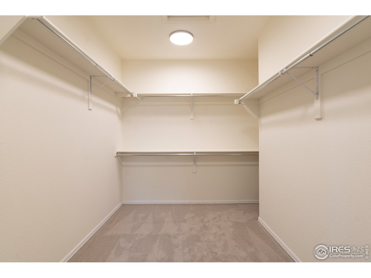 Master Walk in closet is generous and has loads of storage!
