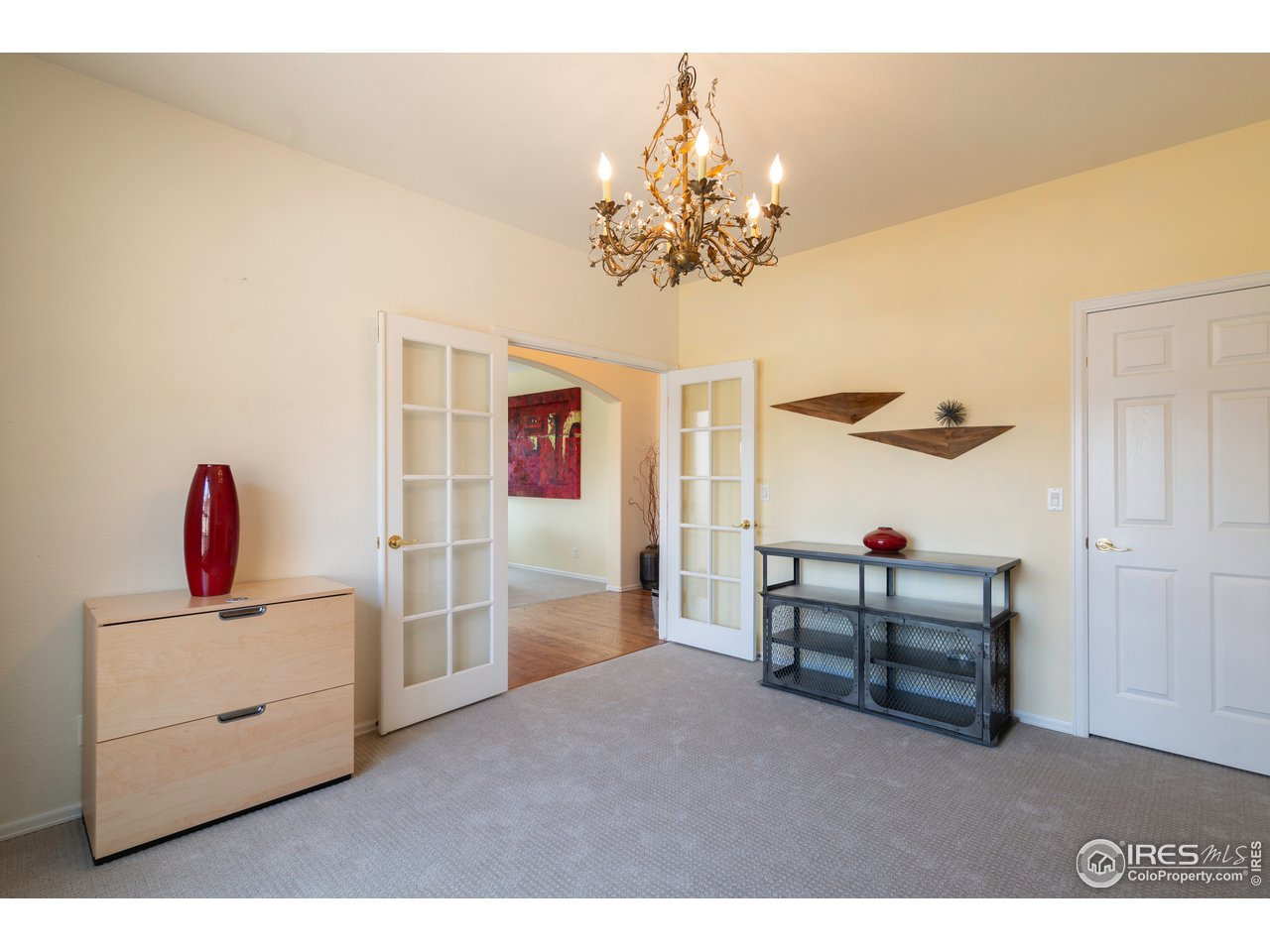 Office area has a closet and could be converted easily to a 4th bedroom