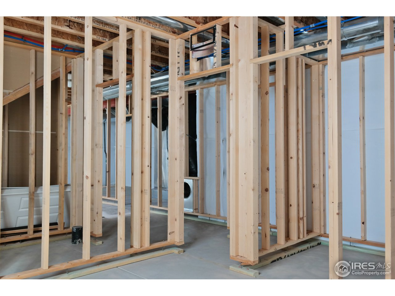 Stud Walls & HVAC Ducts ~ Reaty to Finish