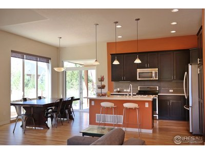 Open Living, Dining & Kitchen Area