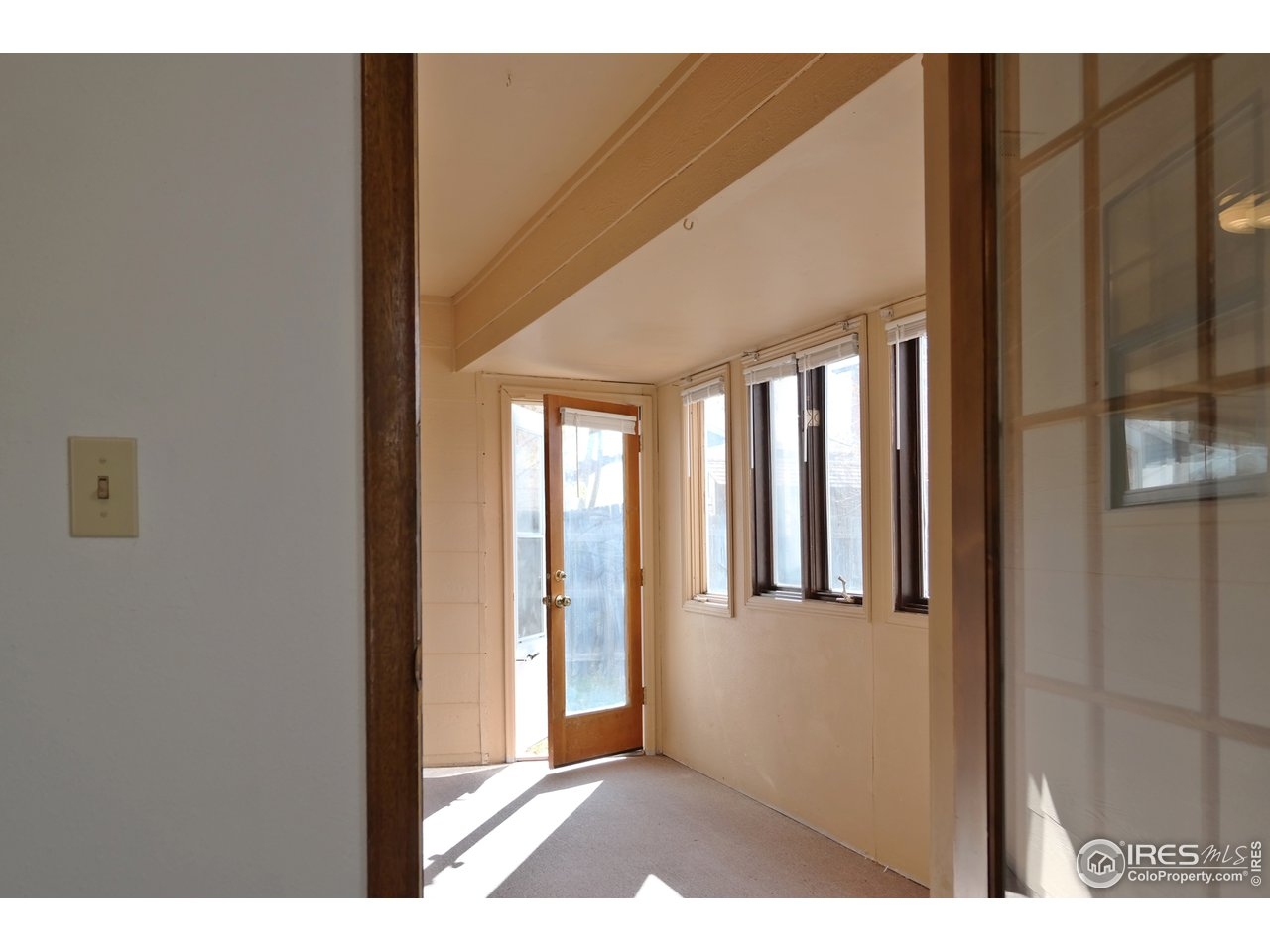 Access to Enclosed Porch from Kitchen & Bedroom
