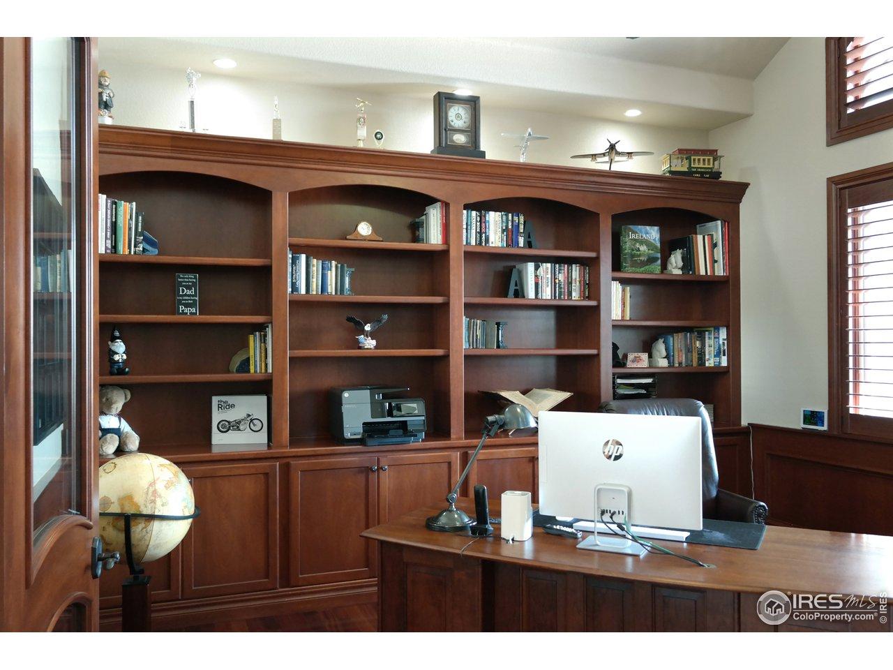 Pleasant Study w/Cherry Floor & Built-Ins